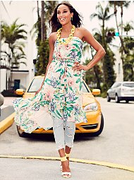 Display product reviews for Sweet Pea - Floral Strapless Dress