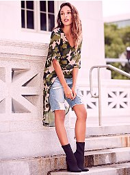 Display product reviews for Sweet Pea - Camo Hi-Lo Blouse