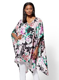 Display product reviews for Floral V-Neck Topper