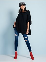 Display product reviews for Ribbed-Knit Poncho