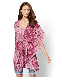Display product reviews for Lace-Trim Kimono Topper