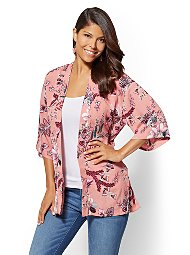 Display product reviews for Floral Kimono Jacket