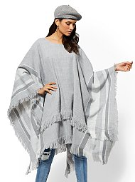Display product reviews for Grey Stripe Poncho