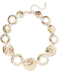 Display product reviews for Hammered Disc Statement Necklace