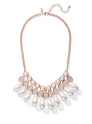 Display product reviews for Faux-Pearl Drop Statement Necklace