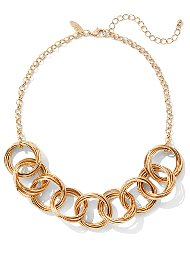 Display product reviews for Round Link Statement Necklace