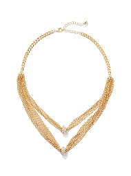 Display product reviews for 2-Row Layered Mesh Necklace