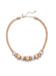 Display product reviews for Faux-Pearl Rondelle Necklace