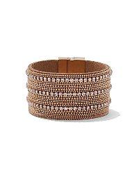 Display product reviews for Sparkling Goldtone Wrap Bracelet
