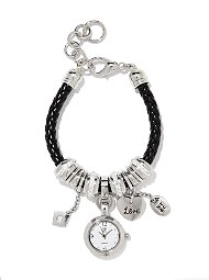 Display product reviews for Corded Watch Charm Bracelet