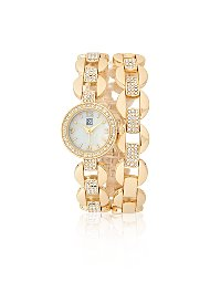 Display product reviews for Glittering Goldtone Bracelet Watch