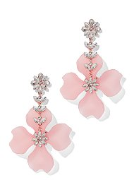 Display product reviews for Sparkling Pink Floral Drop Earring