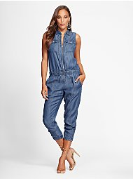 Display product reviews for Gabrielle Union Collection - Ultra-Soft Chambray Jumpsuit