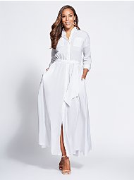 Display product reviews for Gabrielle Union Collection - Maxi Shirtdress
