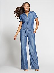 Display product reviews for Gabrielle Union Collection - Jumpsuit - Blue Jewel Wash