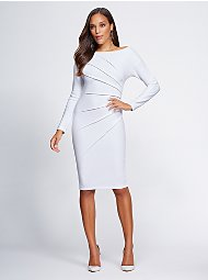 Display product reviews for Gabrielle Union Collection - Pleated Sheath Dress