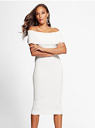 Display product reviews for Gabrielle Union Collection - Tall White Sweater Dress