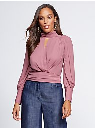 Display product reviews for Gabrielle Union Collection – Tie-Back Blouse