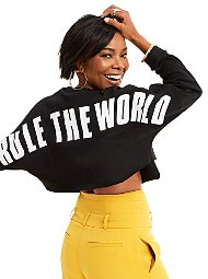 """Display product reviews for Gabrielle Union Collection - """"Rule the World"""" Sweater"""