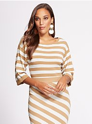 Display product reviews for Gabrielle Union Collection - Stripe Sweater